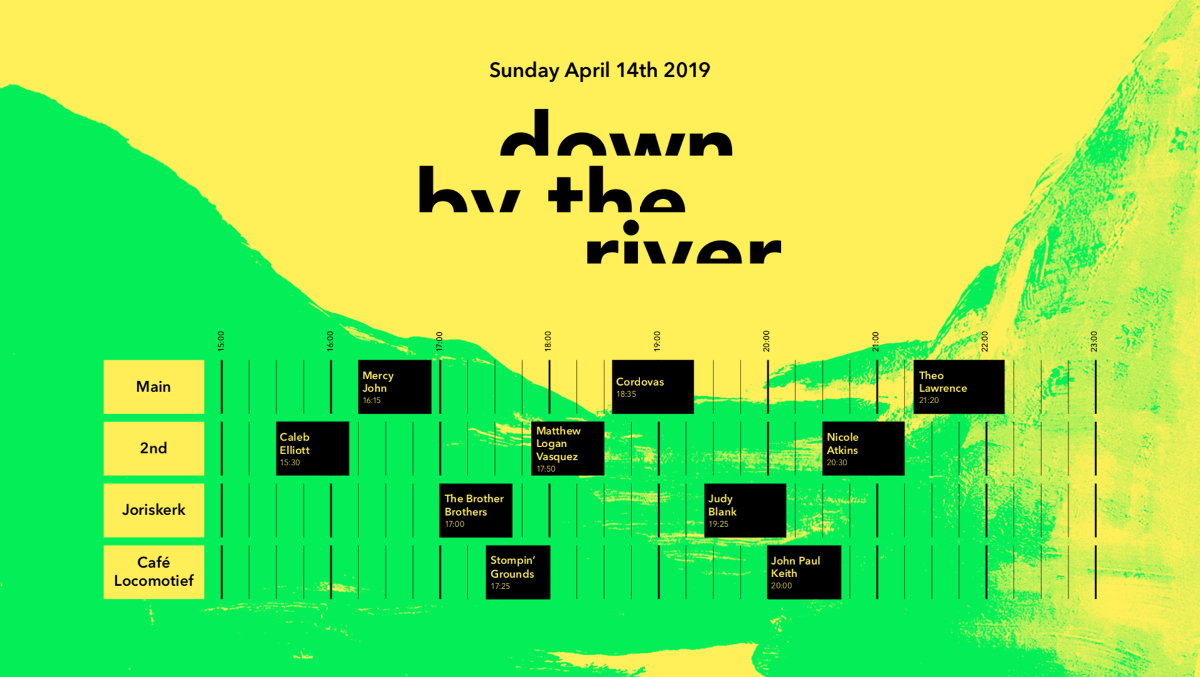Down By The River: this weekend and time table revealed