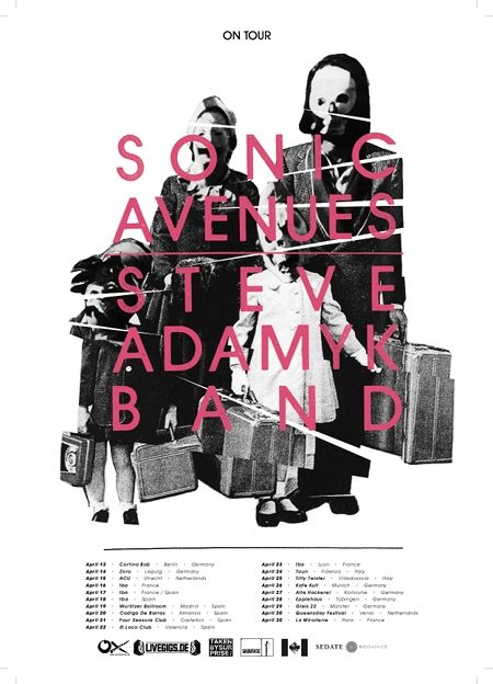 Steve Adamyk Band and Sonic Avenues tour Europe together