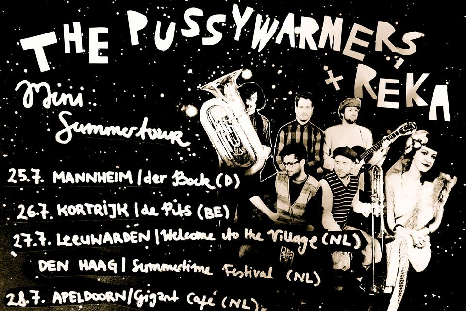 The Pussywarmers & Réka tour this weekend!