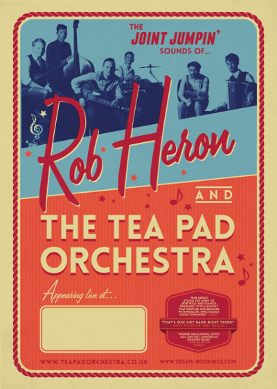 Rob Heron & The Tea Pad Orchestra in Benelux THIS WEEKEND!