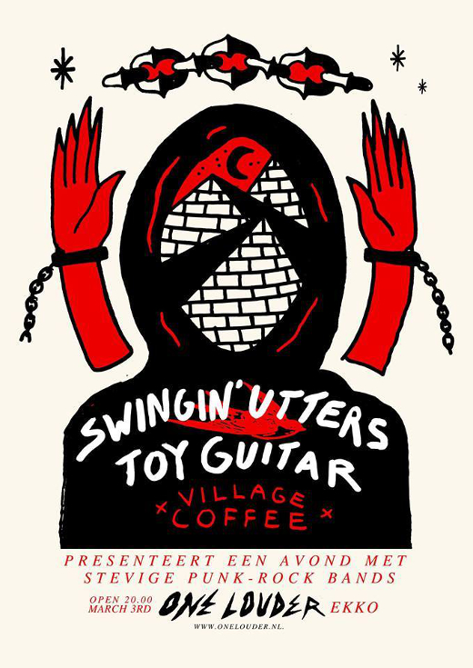 TOMORROW! Swingin' Utters and ToyGuitar do ONE LOUDER in Utrecht!