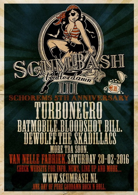 Bloodshot Bill does Scumbash plus three more next February