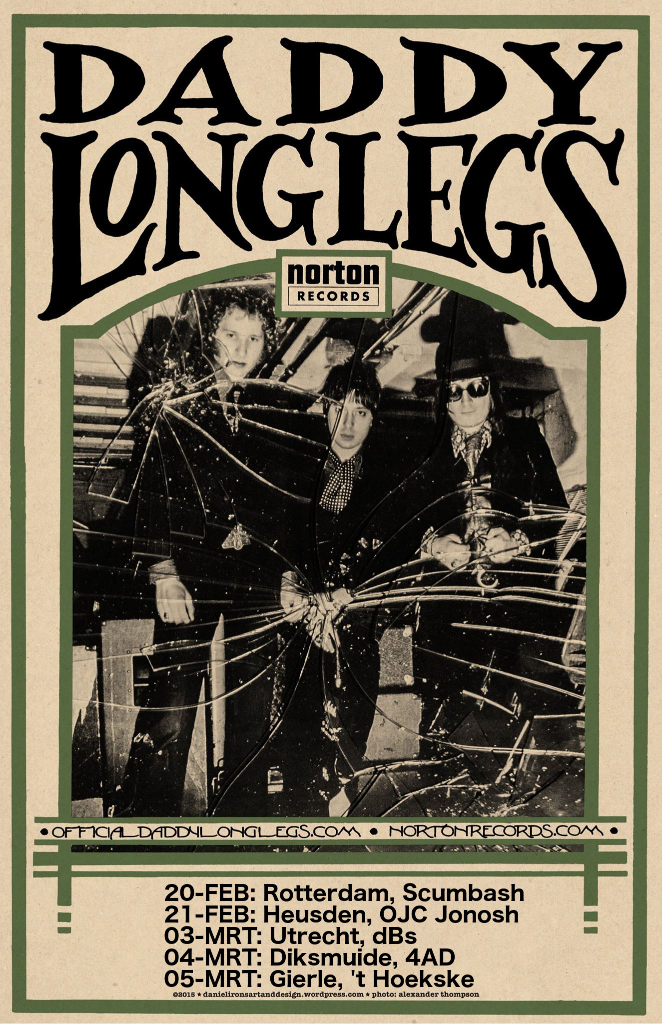 Daddy Long Legs' five Benelux shows in February and March